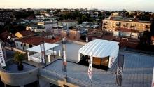Anno: 2014  <br />   Il designer Aldo Drudi lancia un nouvo progetto in collaborazione con Honda, Akrapovic, Olhins e altri partner. Un garage nasce sul tetto del museo della citt&agrave; di Rimini.&nbsp;