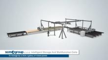 Anno: 2014      Video tecnico di una linea SCM Group. Attraverso animazioni in 3D vengono presentate le diverse macchine che compongono la linea, che poi vengono mostrate in lavorazione.